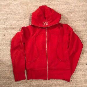 Red lululemon hoodie